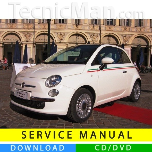 Fiat Nuova 500 service manual (2007-2014) (MultiLang)