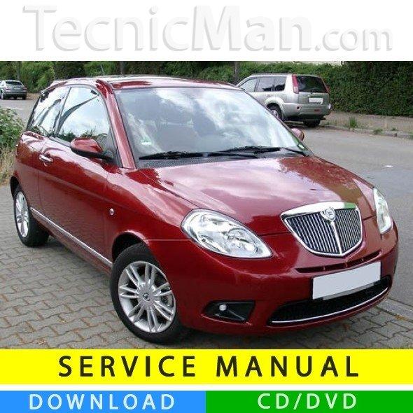 Lancia Ypsilon service manual (2003-2011) (MultiLang)