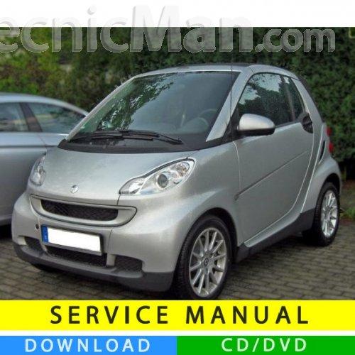 Smart Fortwo Service Manual 2007 2014 En It De