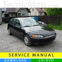 Honda Civic V service manual (1992-1995) (EN)