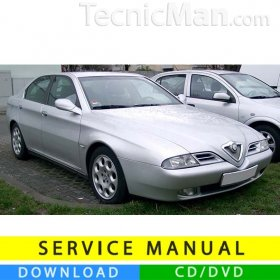 Alfa Romeo 166 service manual (1998-2007) (Multilang)