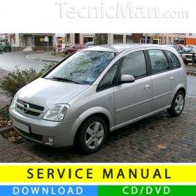 Opel Meriva A service manual (2003-2010) (IT)