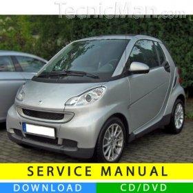 Smart Fortwo service manual (2007-2014) (EN-IT-DE)