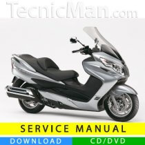 Suzuki Burgman 400 service manual (2006-2007) (IT)