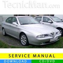 Alfa Romeo 166 service manual (1998-2007) (Multilang)